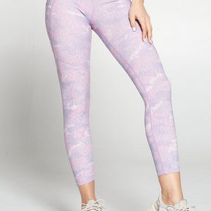 Liz - Orchid Ice Camo w Pockets 7/8 Legging