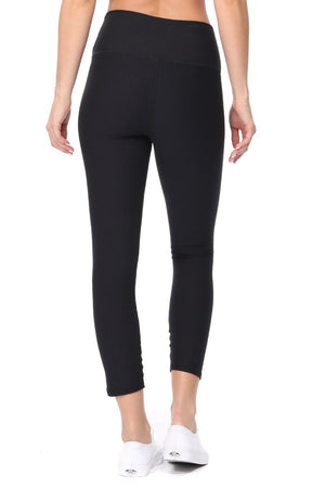 Luna - Plain Black Brushed Legging (HWC) - evcr2