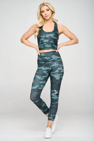 Mia - Camo Reflective Foil 7/8 (High-Waist) - LIMITED FOIL EDITION Activewear