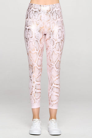 Mia - Pink Snake Ice 7/8 (HW) - LIMITED FOIL EDITION Activewear
