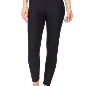 Mia - Plain Black Brushed 7/8 (High-Waist)