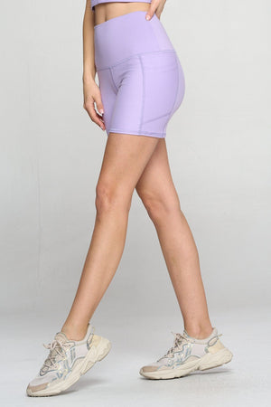 "Mia Short - Purple Rain w Pockets 5"" (High-Waist) - LIMITED EDITION Shorts"
