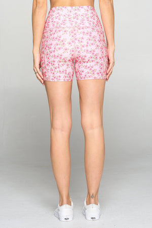 "Mia Short - Strawberry Shortcake Shorts w Pockets 5"" (HW) Activewear"