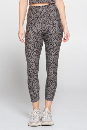 Mia - Wet Sand Abstract Animal Print 7/8 (HW) Activewear