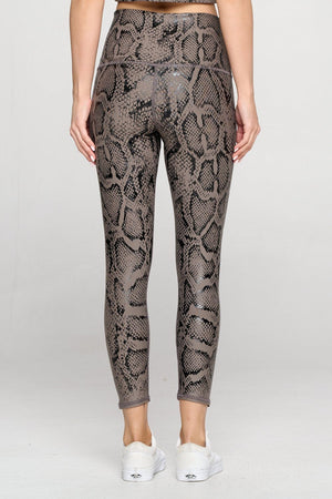 Mia - Wet Sand Snake 7/8 (HW) - LIMITED FOIL EDITION Activewear