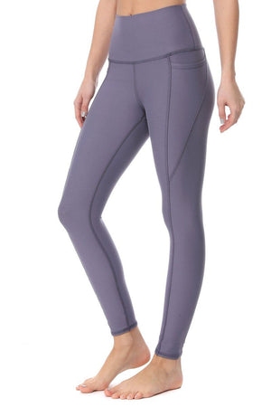 Mindy - Dusty Lavender w/ Pockets 7/8 Legging (HW) - evcr2