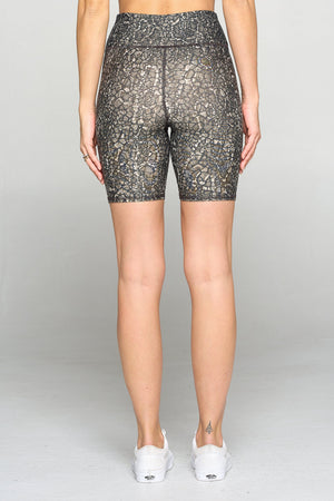 "Molly - Lacey Croc Biker Shorts 7¼"" Activewear"
