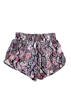 Pia - Textured Snake Running Shorts Activewear