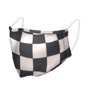 unisex, mask, checkered, preventative, face covering
