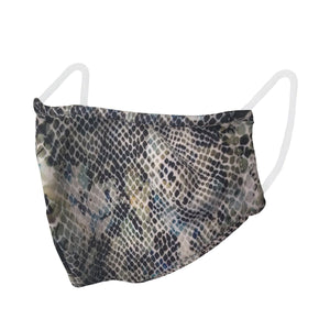 unisex, mask, lizard, animal, snake skin, preventative, face covering