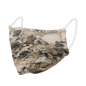 unisex, mask, snake, camo, green, preventative, face covering