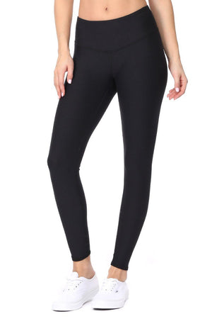Sofia - Plain Black Brushed 7/8 Legging - evcr2