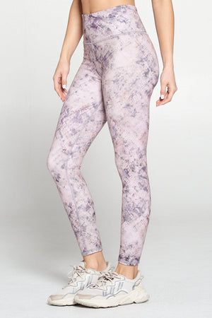 Sofia - Purple Grunge Flair 7/8 Legging (RW) Activewear