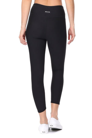 Valerie - Plain Black Brushed Capri - evcr2