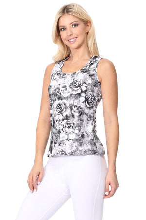 Water Color Skull Performance Tank Top - evcr2