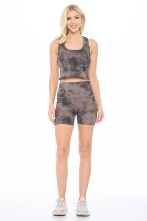 "Wet Sand Tie Dye Smudge Shorts w Pockets 5"" (HW)"