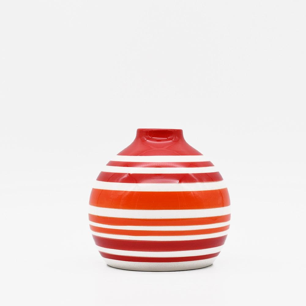 Soliflore boule rouge orange et blanc I Vases en céramique du Portugal Soliflore boule - Rouge