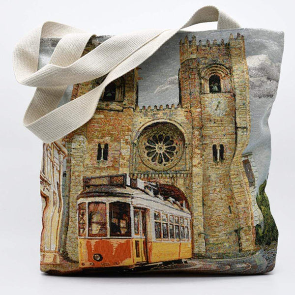 "Tote bag portugais avec illustrations Lisbonne Tote bag patchwork ""Lisbonne"""