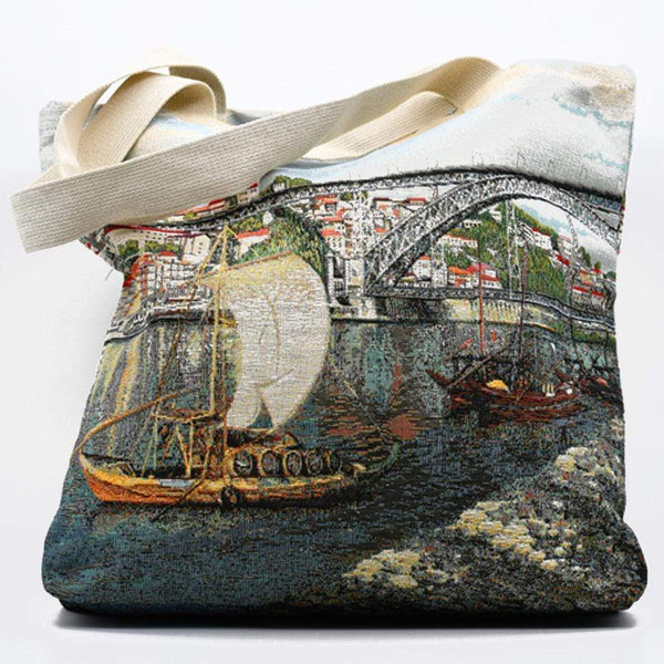 "Tote bag portugais avec illustrations Porto Tote bag patchwork ""Porto"""