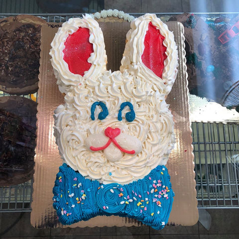 Bunny Cutout Head Cake