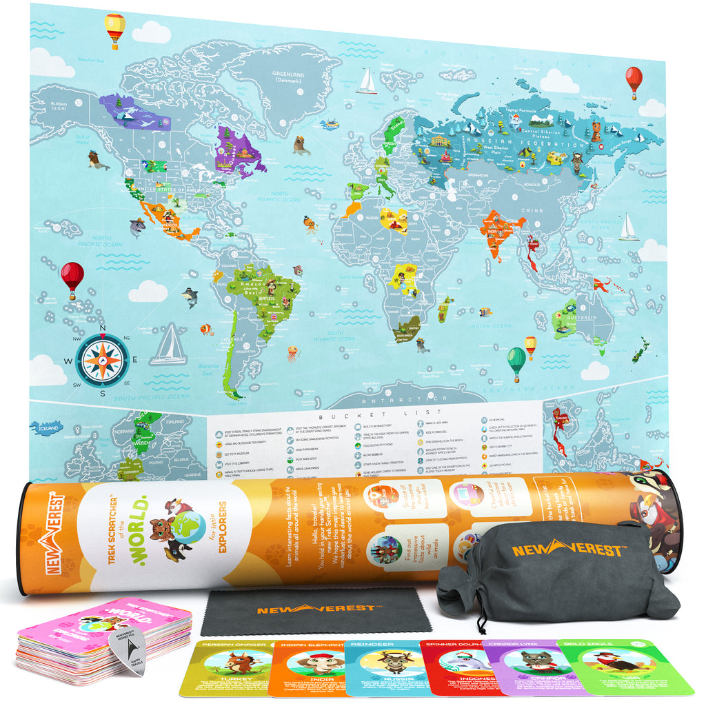 Newverest Trek Scratcher™ of the World - Kids Edition