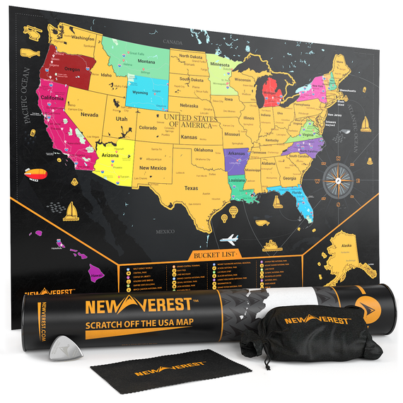 scratch off united states map Scratch Off Map USA: Mark All Your Adventures | Newverest.com