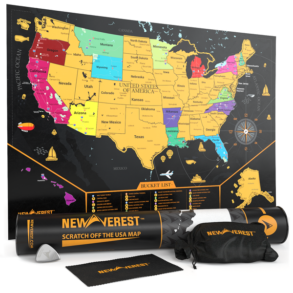 Us Map Scratch Off Scratch Off Map USA: Mark All Your Adventures | Newverest.com