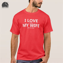 I Love My Wife FUNNY Beer Humor Shirt Men's Cotton Short Sleeve T Shirt Black Grey Red Color