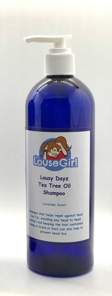 Large Tea Tree Oil Lice Shampoo that repels against lice.