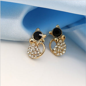 Trendy Fashion Cute Cat Dazzling Stud Earrings [THE PERFECT GIFT FOR ANY CAT LOVER!!]