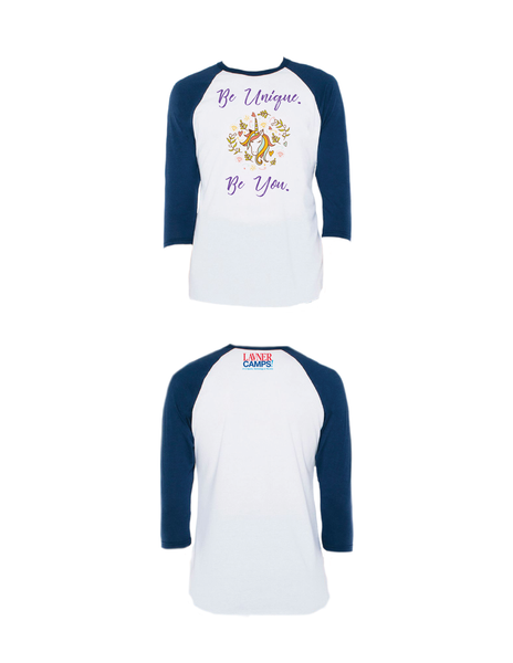 Be Unique Raglan 3/4 (Adult)