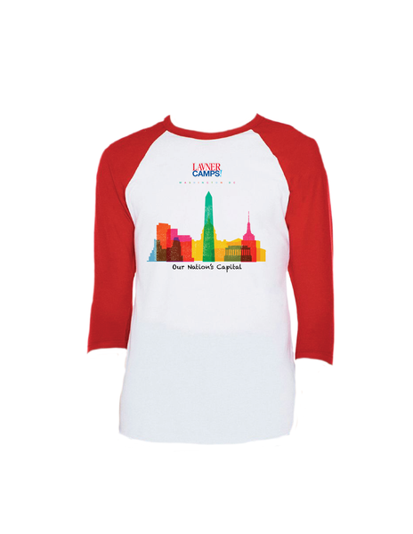 DC Skyline Raglan 3/4 (Adult)
