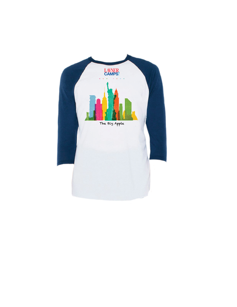 NY Skyline Raglan 3/4 (Youth)