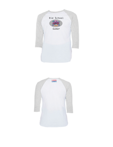 Old School Gamer Raglan 3/4 (Adult)