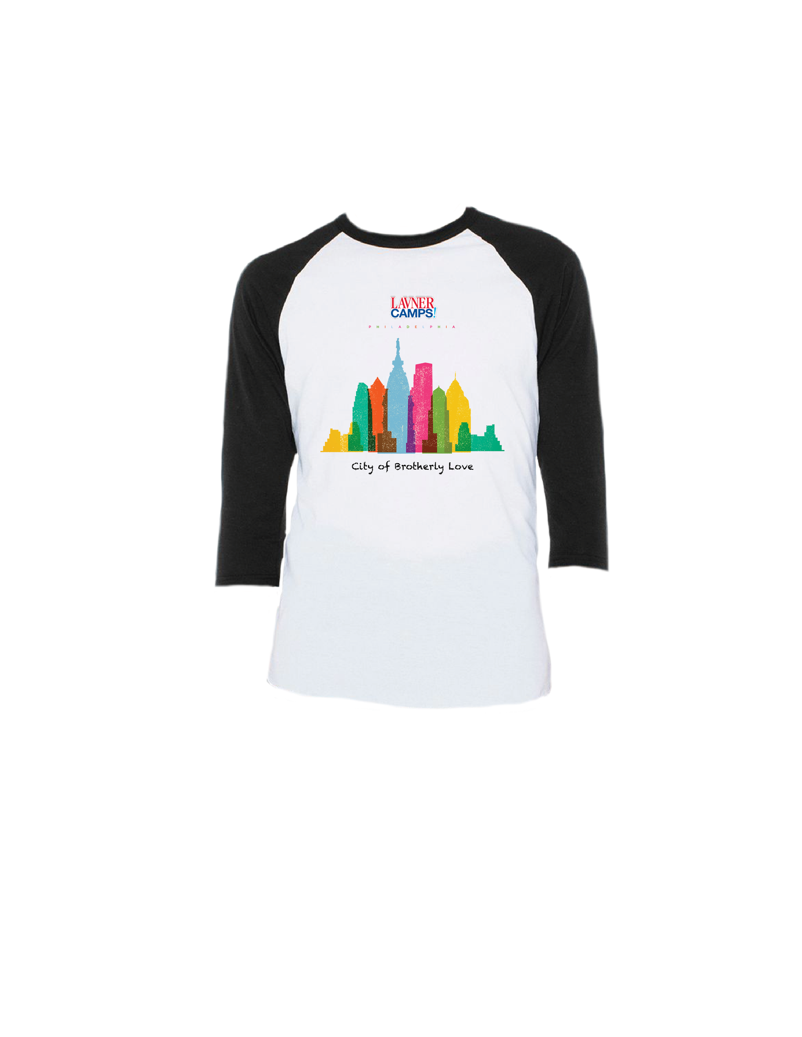 Philly Skyline Raglan 3/4 (Youth)