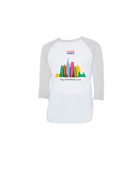 Philly Skyline Raglan 3/4 (Adult)