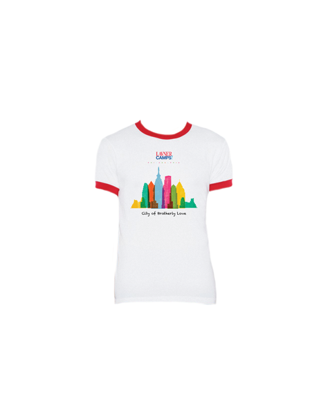Philly Skyline Ringer T-Shirt