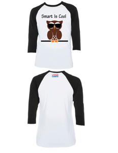 Smart Is Cool Raglan 3/4 (Adult)