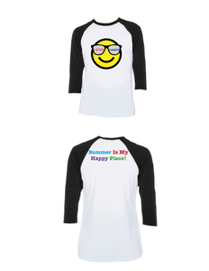 Summer Happy Place Raglan 3/4 (Youth)