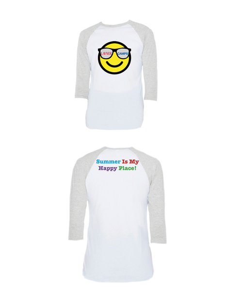 Summer Happy Place Raglan 3/4 (Adult)