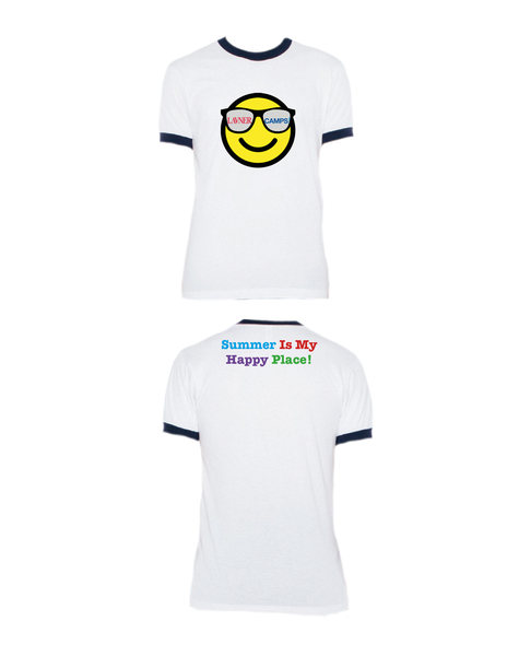 Summer Happy Place Ringer T-Shirt
