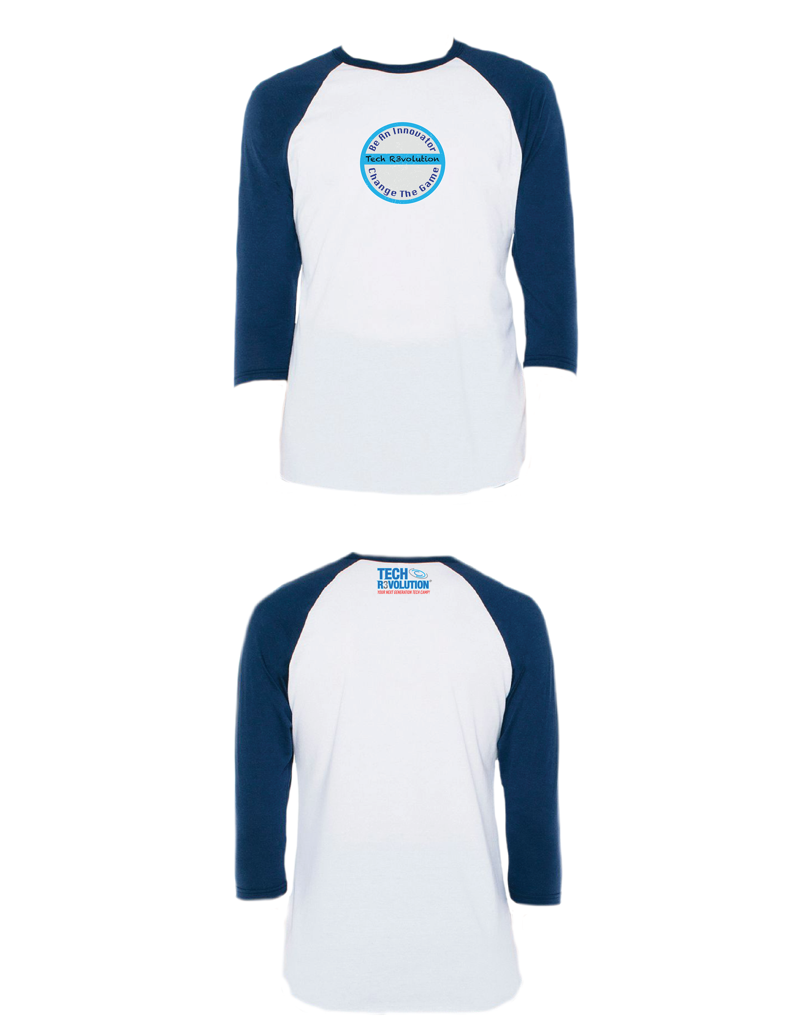 Tech Revolution Raglan 3/4 (Adult)