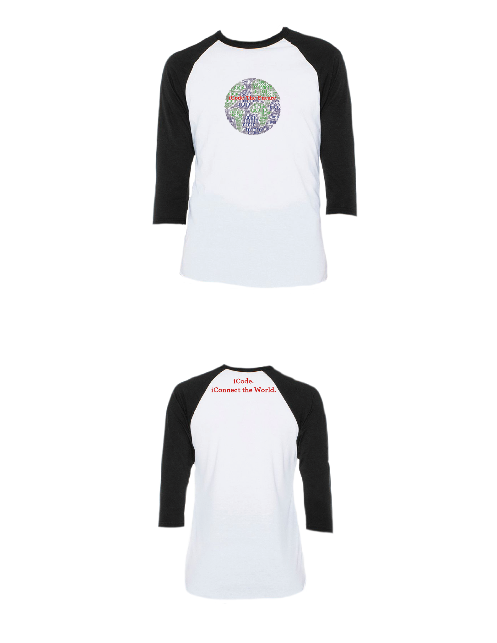 iCode the Future Raglan 3/4 (Youth)