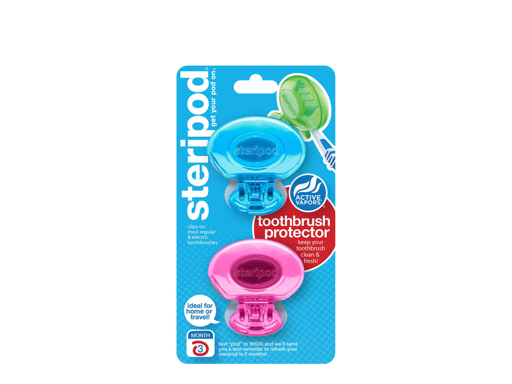 Classic Double Toothbrush Protectors (Set of 2 Pods)