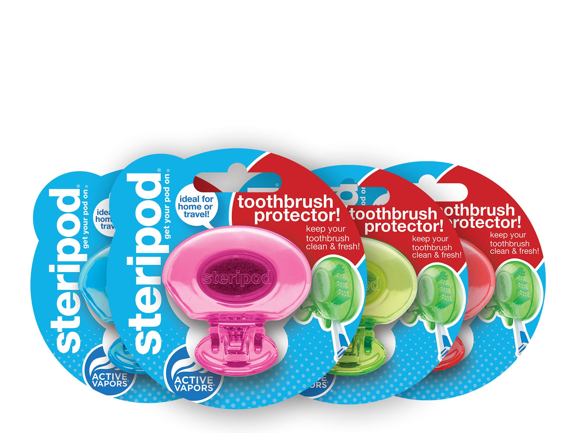 Stocking Stuffers: Classic Single Toothbrush Protectors Kit (Set of 12 Pods)