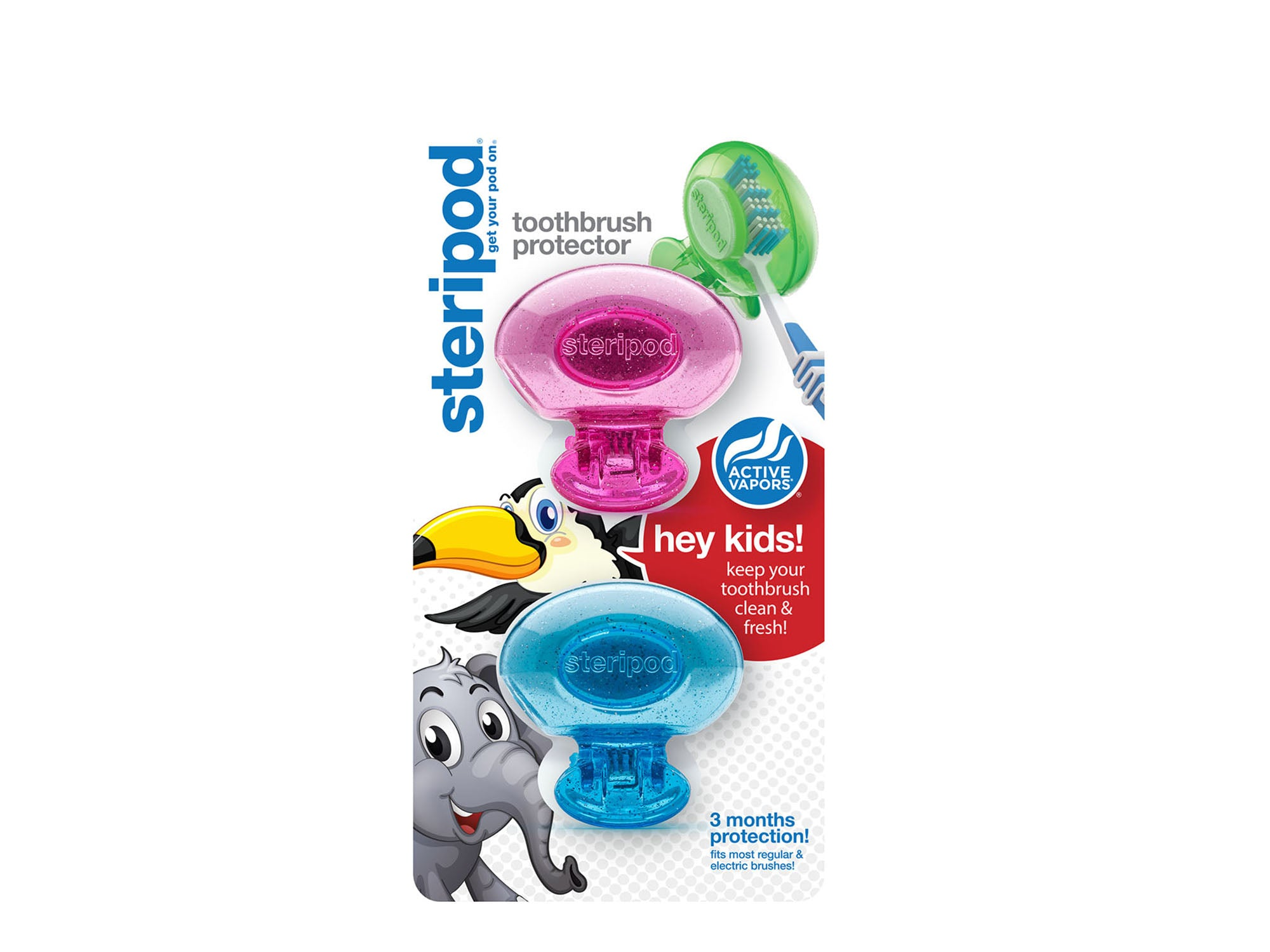 Kids Double Toothbrush Protector (Set of 2 Pods)