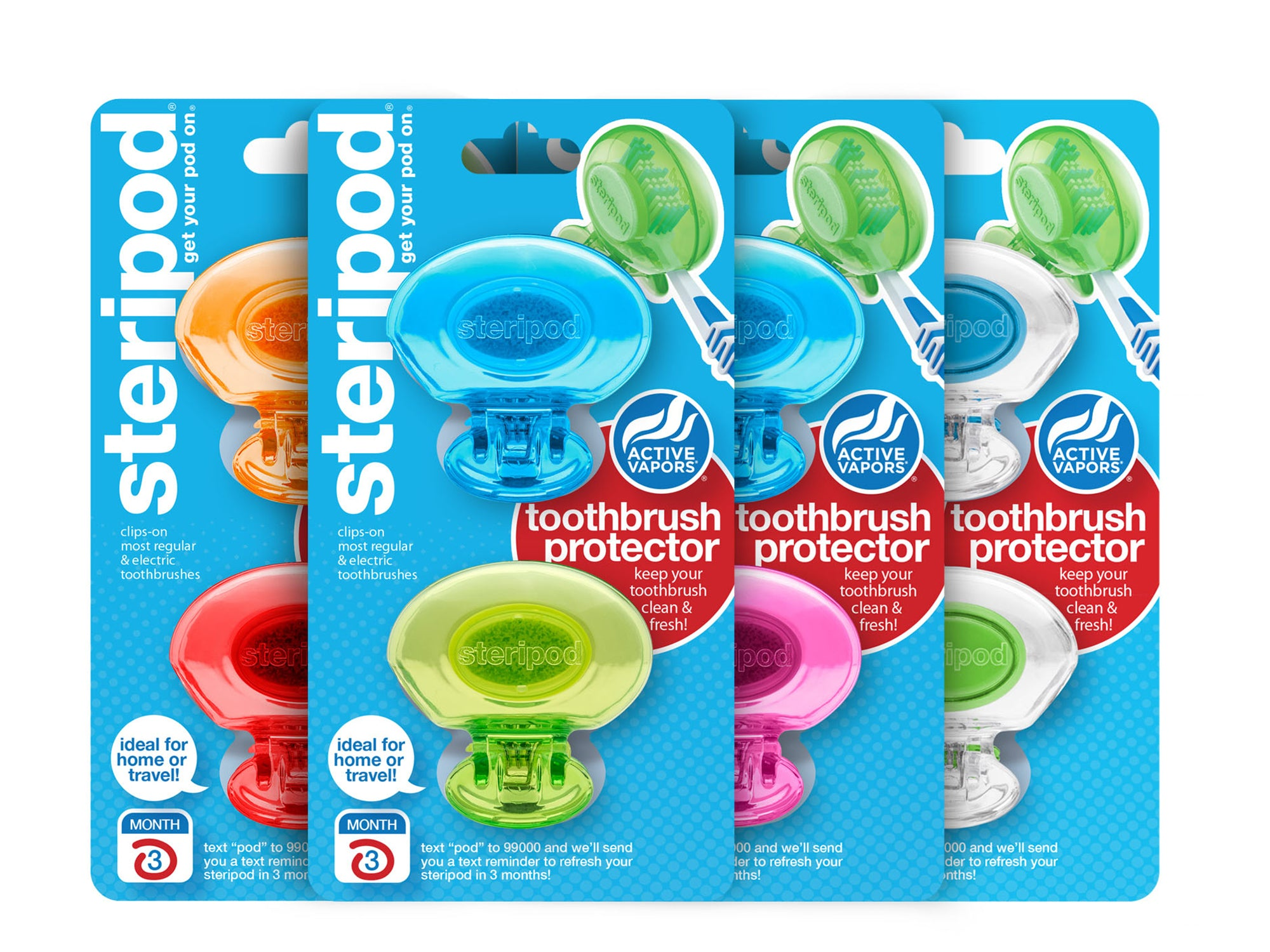 Classic Toothbrush Protectors Family Pack (Set of 8 Pods)