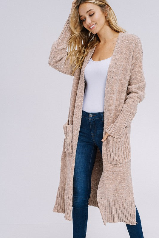 Chenille Long Cardigan