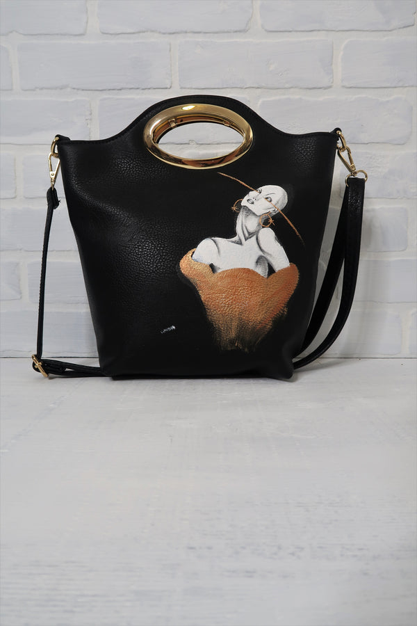 Fashion Illustration Hand Painted Bag - Unapologetic Shop