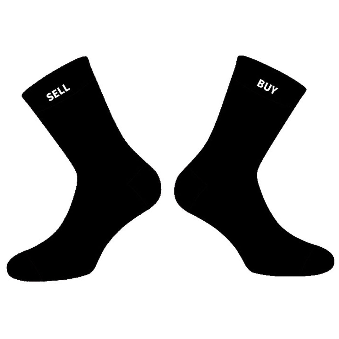 Buy Side/Sell Side Crew Socks - Finance Is Cool